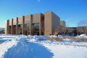 A view of the snowfall at the East Peoria Campus. REID HARMAN | THE HARBINGER
