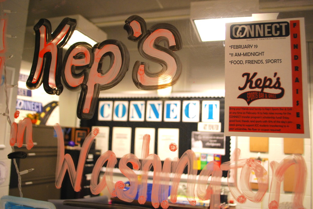 Today, the CONNECT office is encouraging people to patronize Kep's Sports Bar and Grill in Washington. REID HARMAN | THE HARBINGER