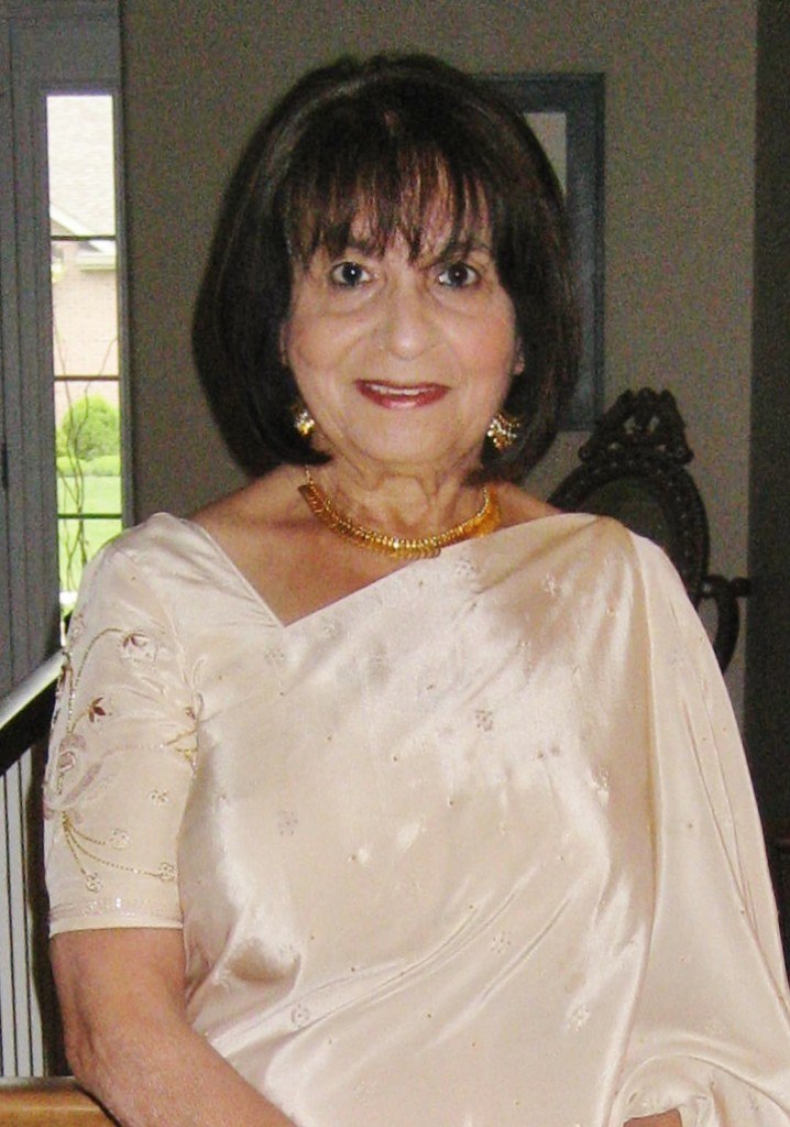Prema Dua in one of her tradition Indian gowns. Photo Courtesy SCOTT DUA