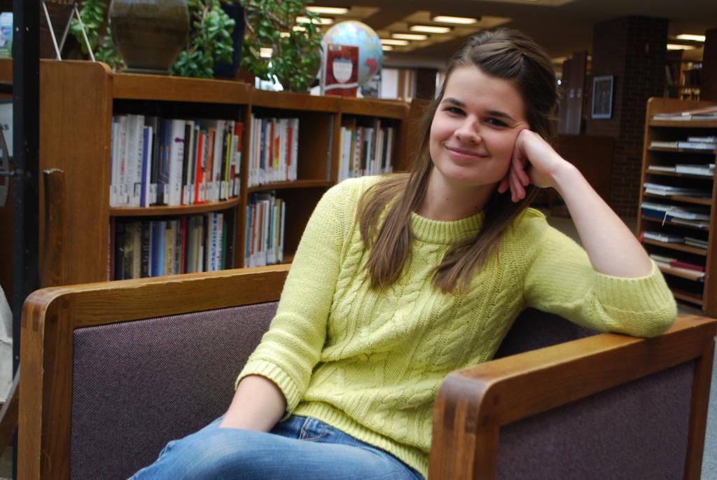 Hannah Sauder wants to teach kindergarten after getting her degree in early childhood education. REID HARMAN | THE HARBINGER