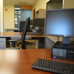 Venture off the beaten path in Arbor, and you can find a few offices reserved for faculty use. REID HARMAN | THE HARBINGER