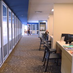 Academic Services has a powerful presence in Arbor Hall. In addition to the provost's office, it houses a complement of testing, advisement and enrollment services (shown). REID HARMAN | THE HARBINGER