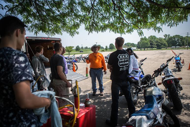 The Motorcycle Safety Foundation course was created for students with little to no experience with motorcycles. MARK NYCZ | THE HARBINGER