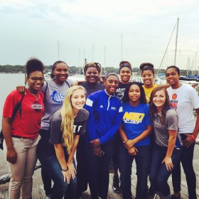 Destiny Ramsey (Back row second from right)with members of NJCAA All-Star Weekend. Photo credit: Destiny Ramsey