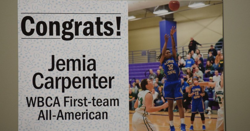 Photo by Christian Harr. Along with her other accolades, Carpenter was named a WCBA first-team All-American.