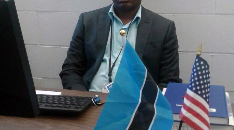 Dr. Tutwane in his office at ICC